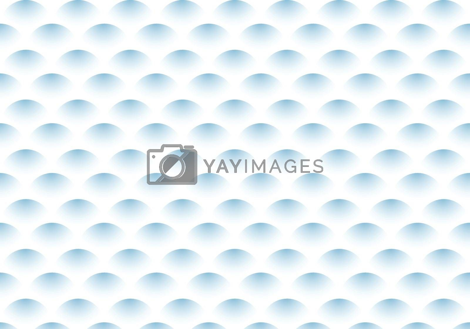 Abstract semicircle blue gradient wave pattern on white background. Vector illustration