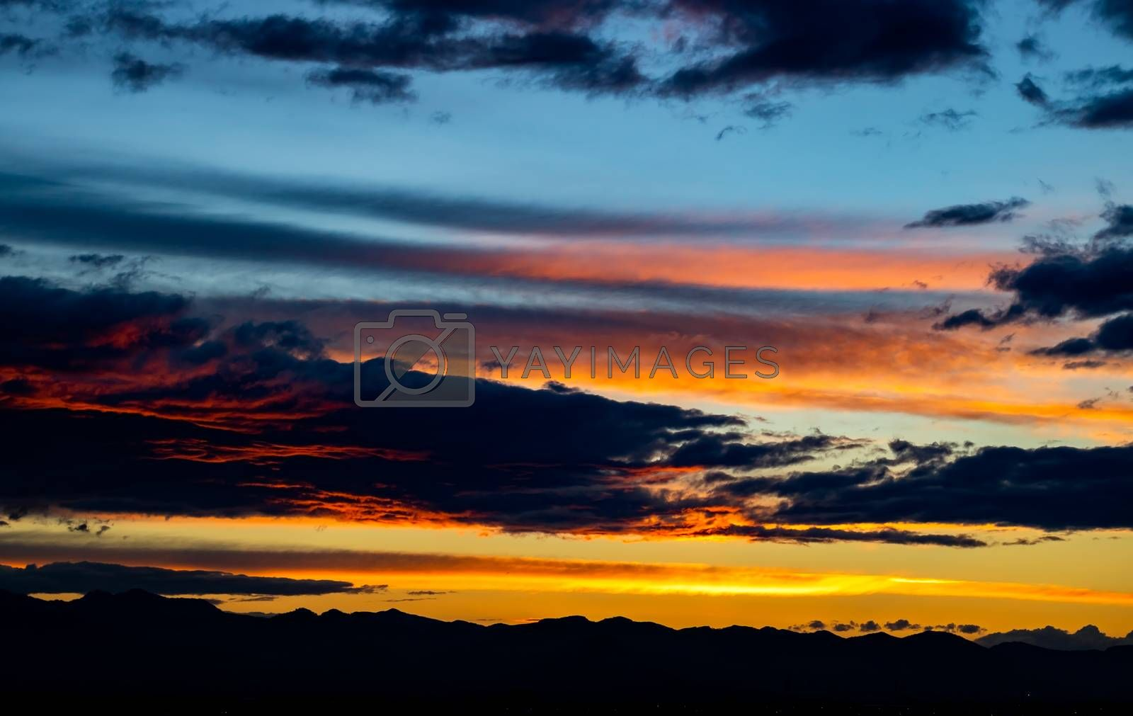 Sunset over mountains by Barriolo82