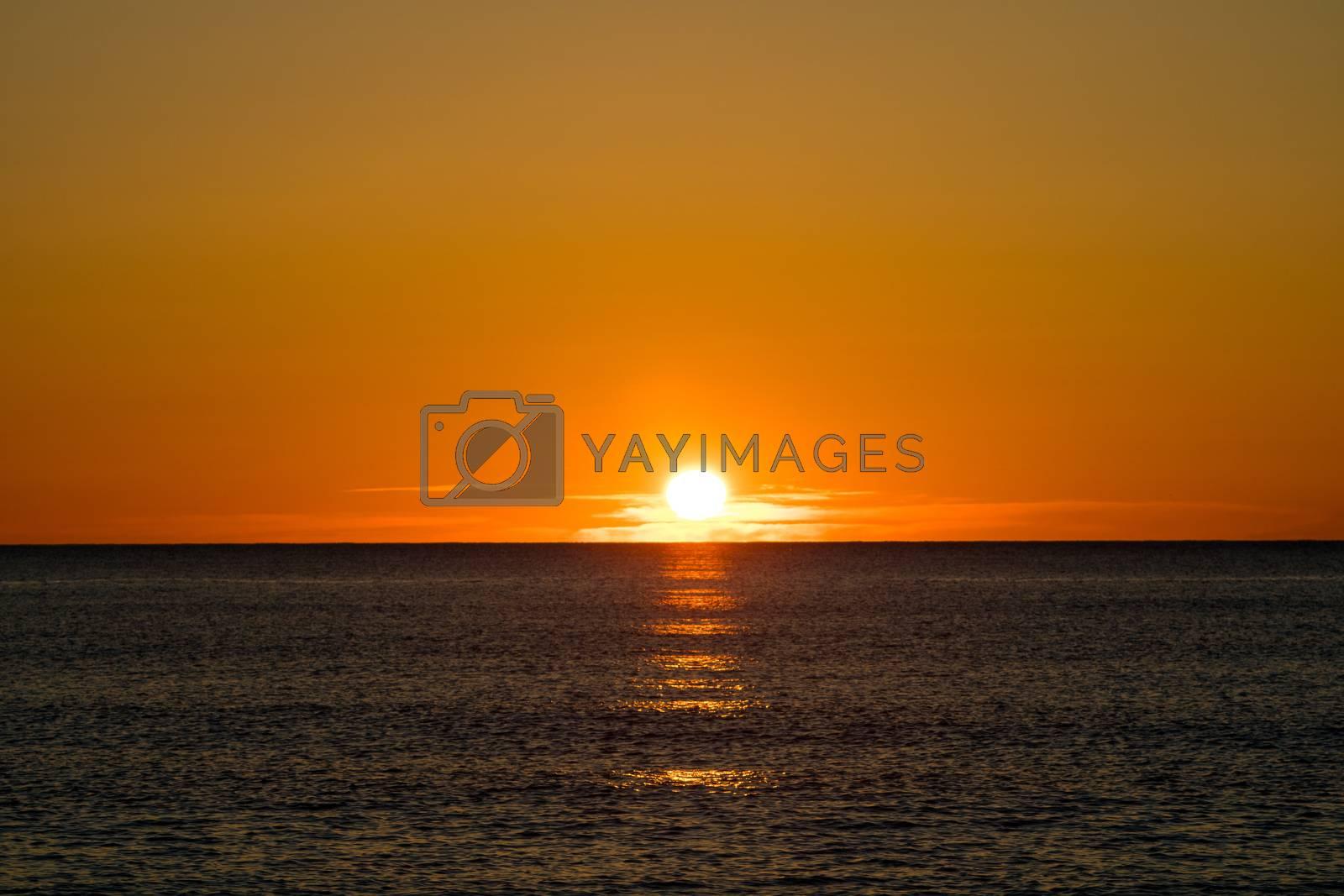 Sunrise on the beach by Barriolo82