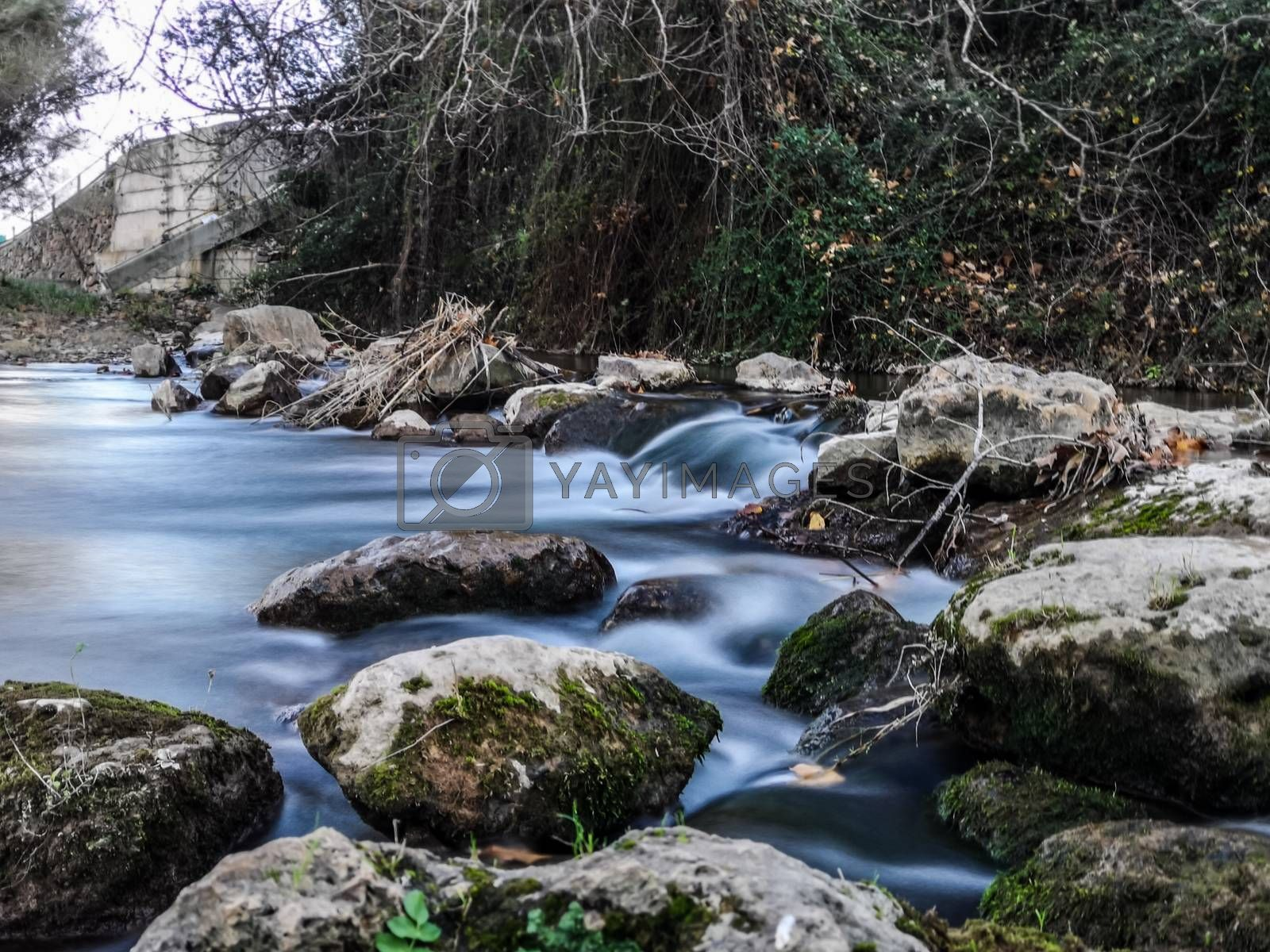 Palancia River waters flowing through the rocks by Barriolo82