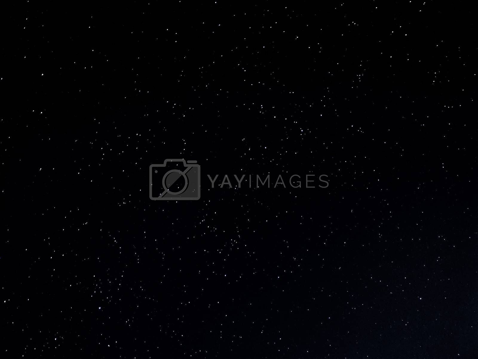 Dark background of stars in long exposure
