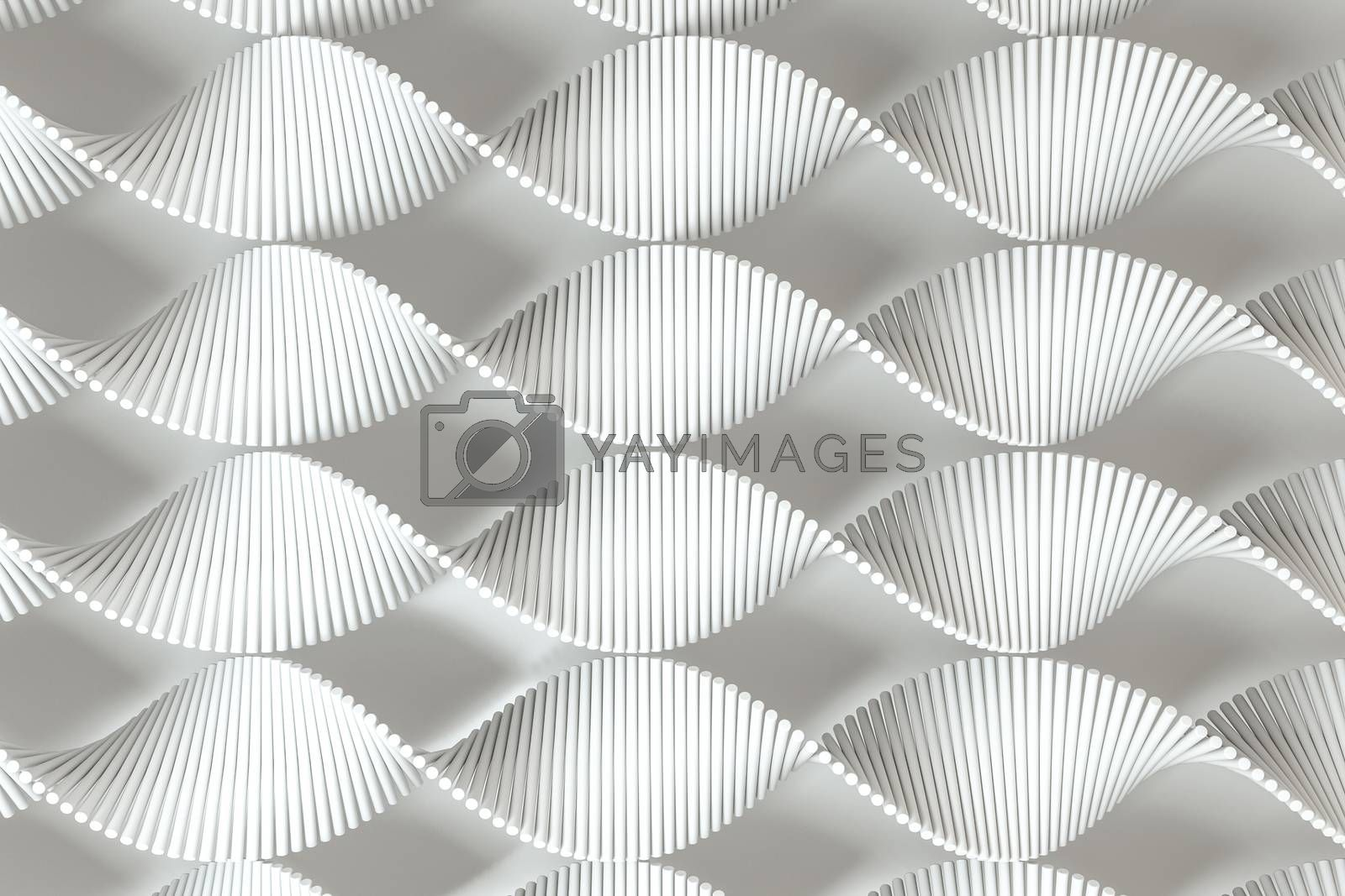 3d rendering, the spiral DNA consist of lines. by vinkfan