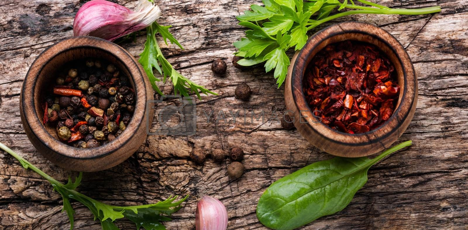 Aromatic spices and herbs by LMykola