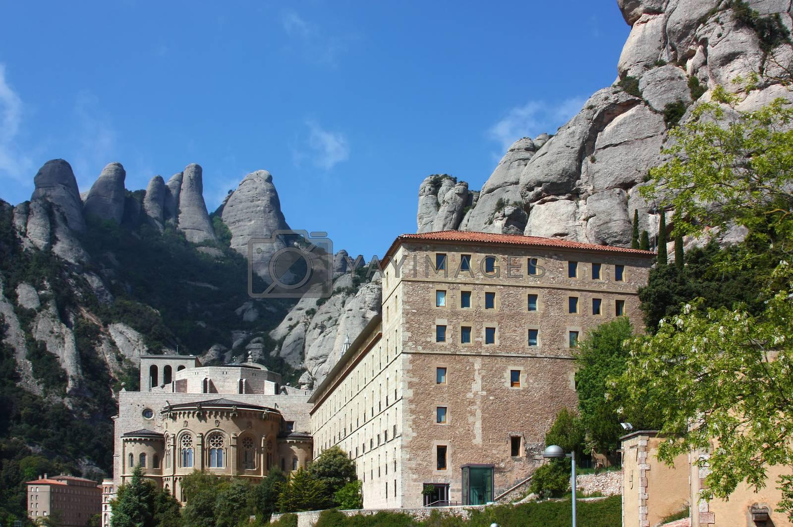 Abbey Santa Maria de Montserrat, Catalonia, Spain. by borisb17