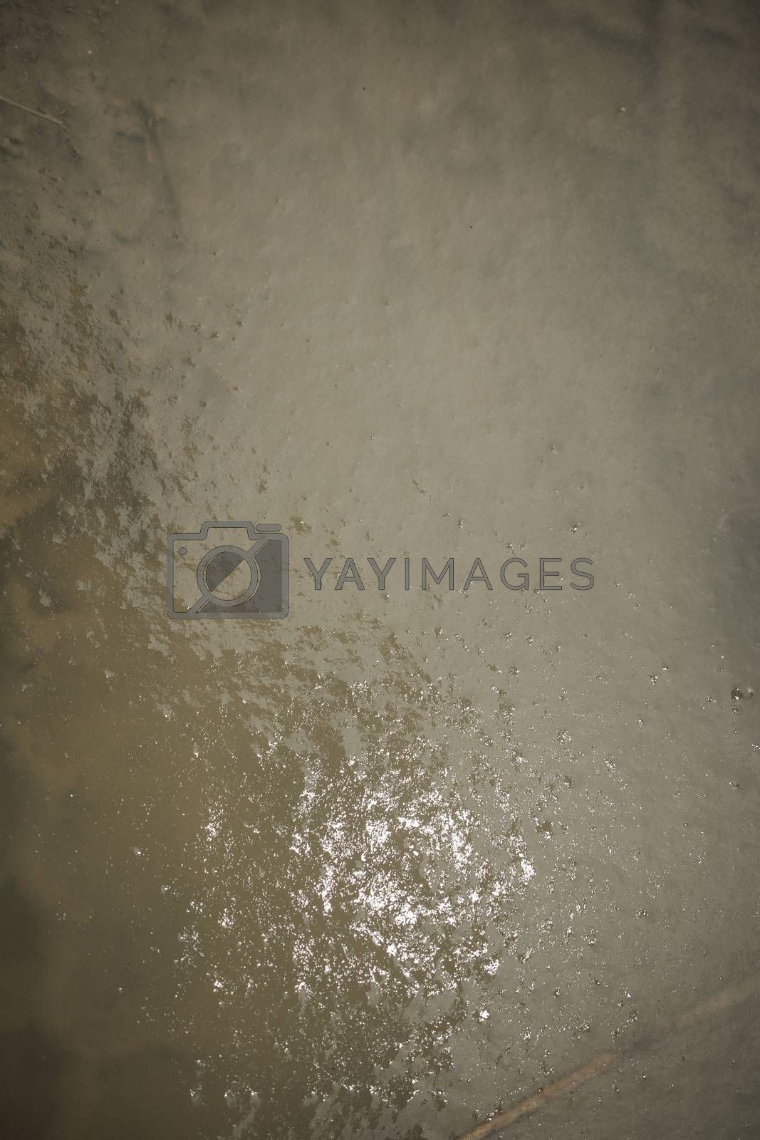 Abstract snowy frozen water background in the view