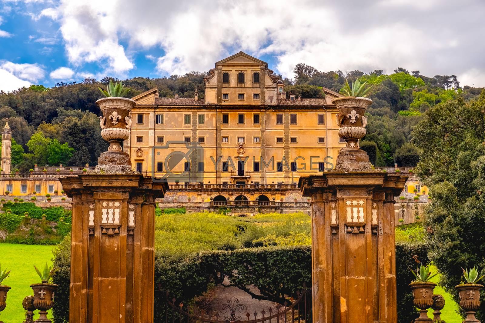 Frascati - Lazio - Italy historic landmark Aldobrandini palace near Rome by Luca Lorenzelli