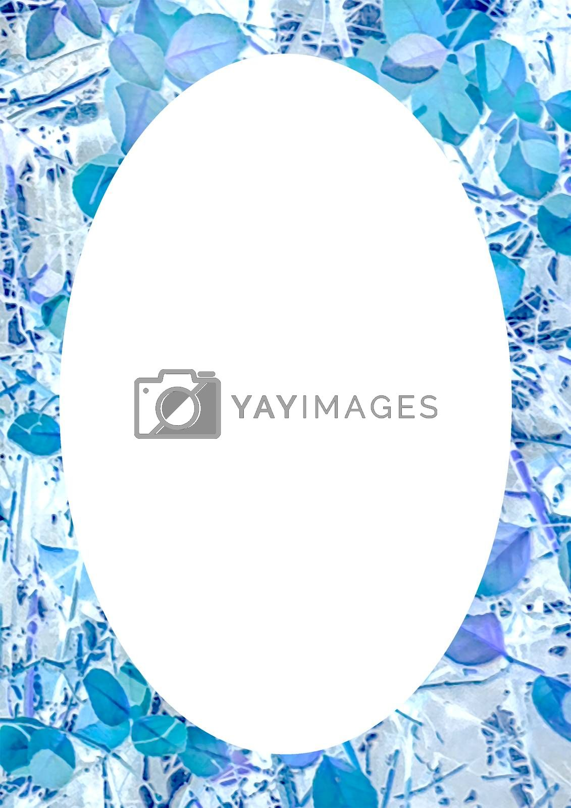 White Frame With Nature Patterned Rounded Edges by DanFLCreative