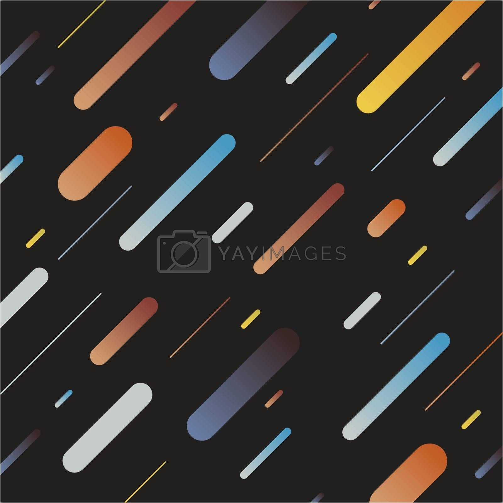 Abstract multicolor dynamic geometric pattern diagonal lines on  by phochi