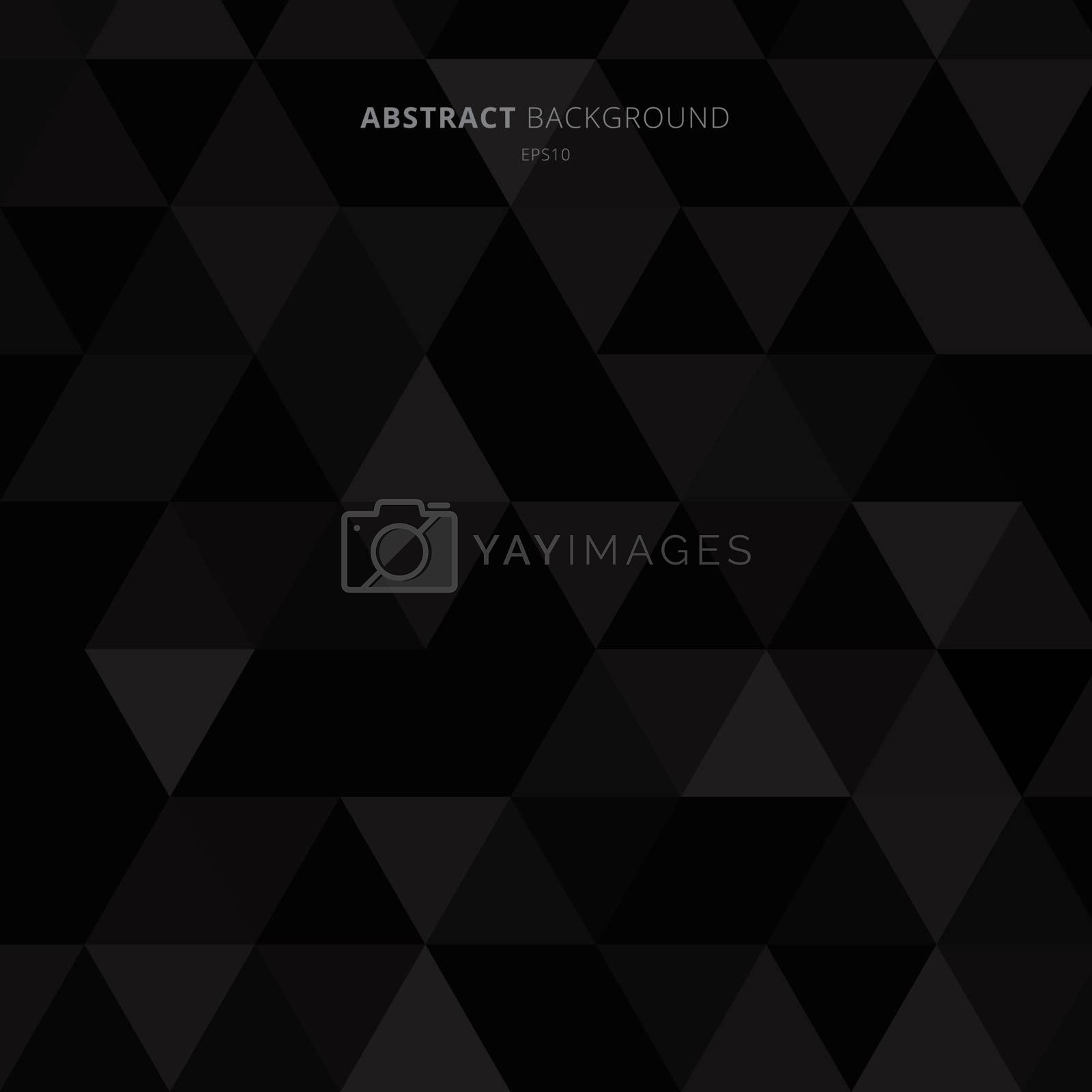 Abstract black triangles pattern on dark background minimal styl by phochi
