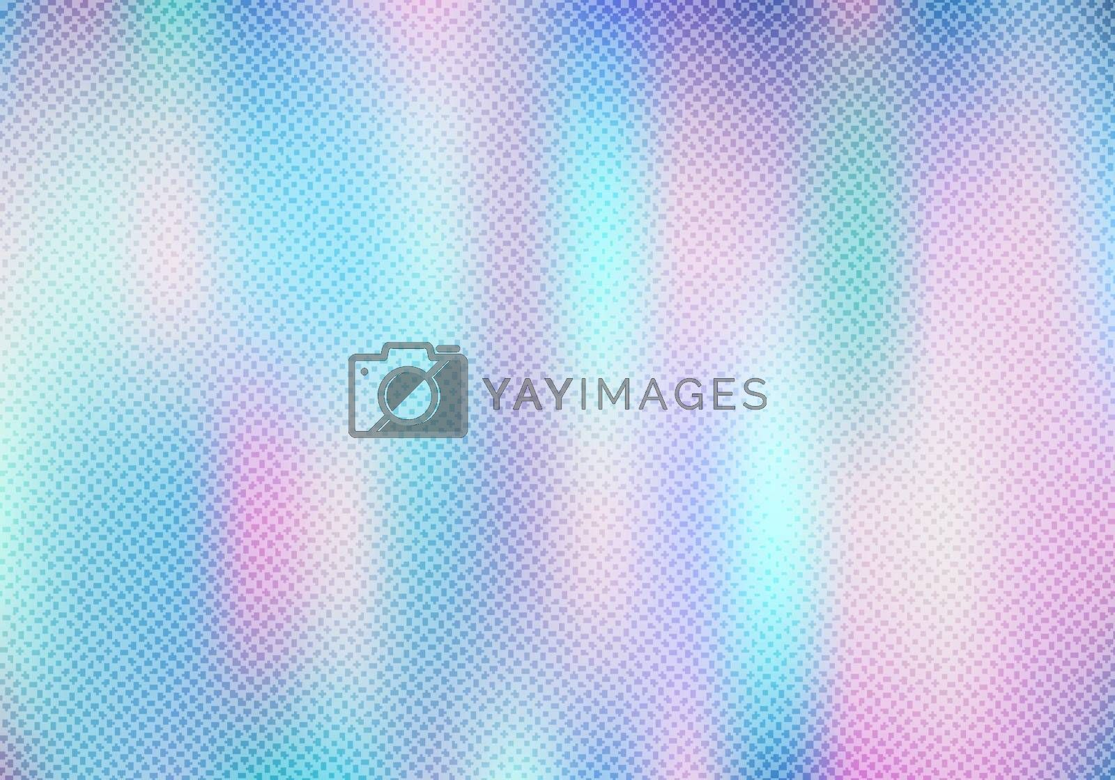 Abstract smoot blurred holographic gradient background with half by phochi