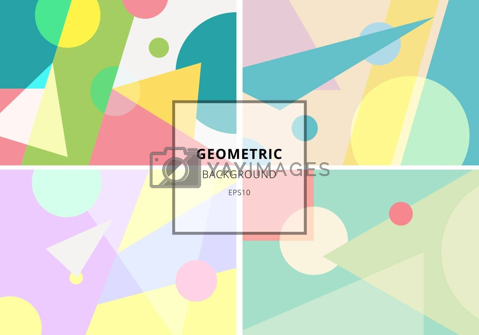Set of trendy geometric elements retro style texture pattern. Modern abstract design poster, cover, card, invitation, brochure, etc. Vector illustration
