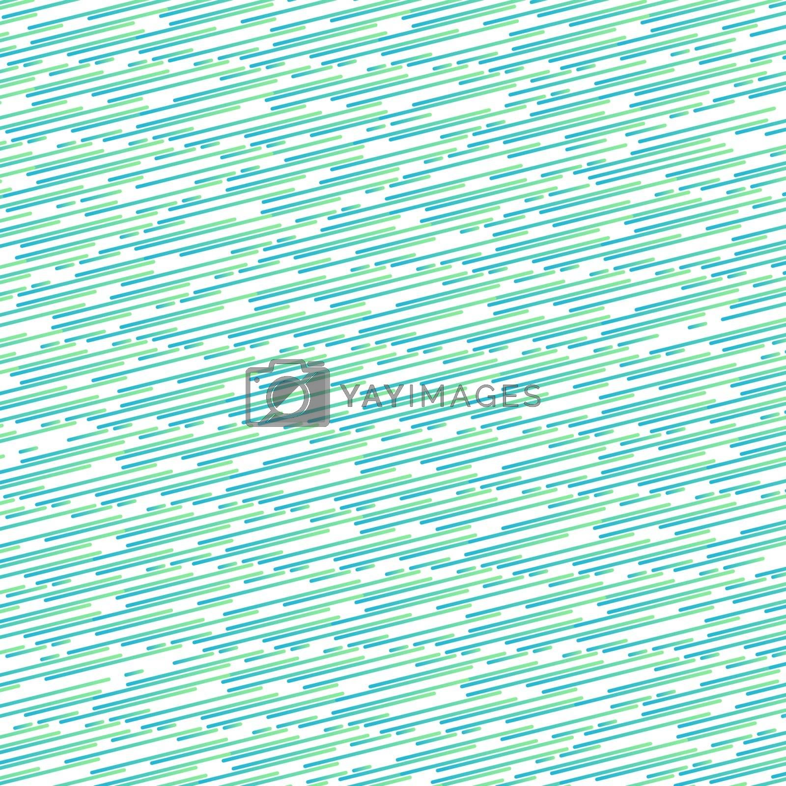 Abstract blue and green gradient color thin rounded line pattern tilted pattern on white color background and texture. Vector illustration