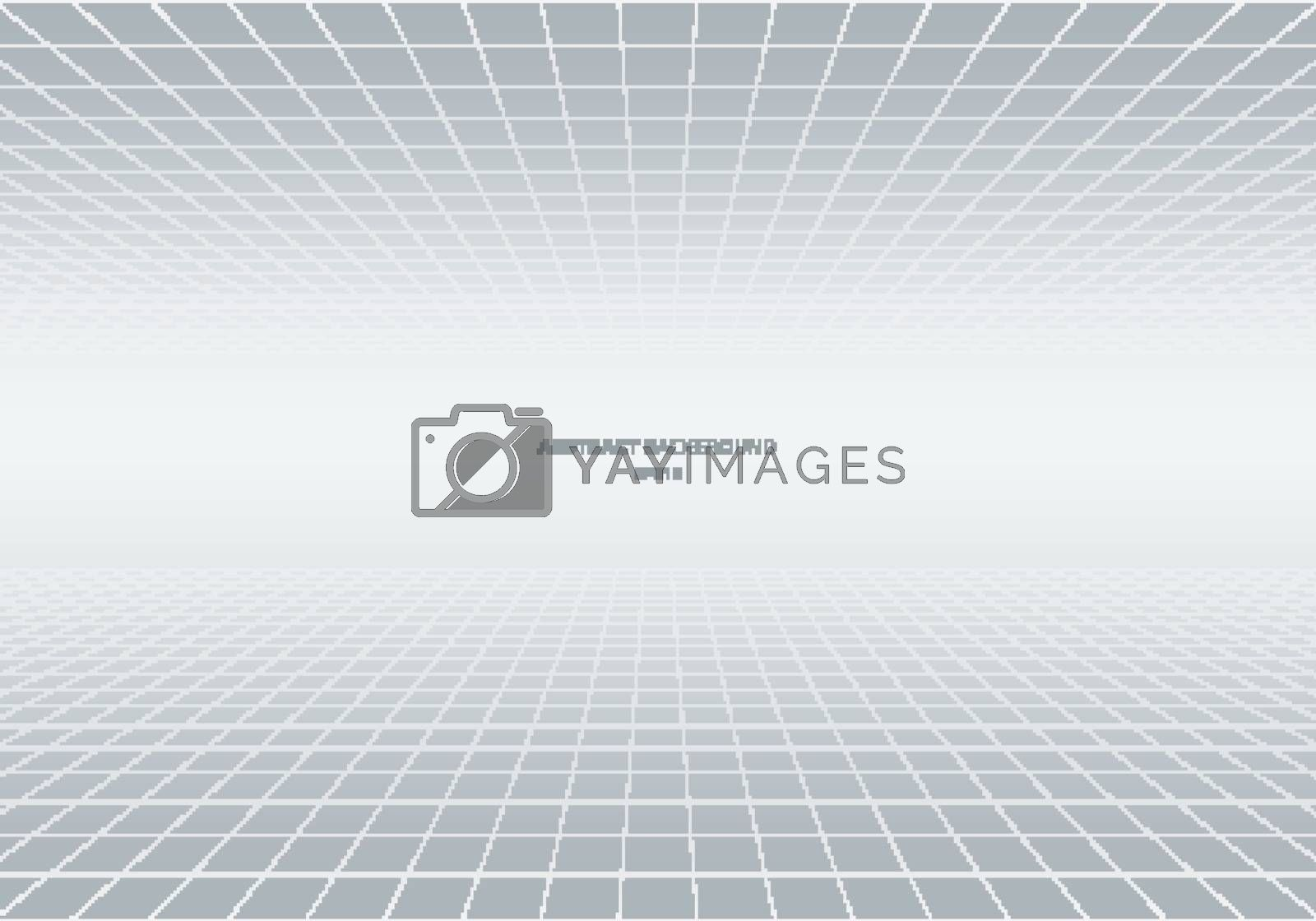 Abstract geometric squares pattern perspective white and gray background. Grid lines light backdrop. You can use for decorative banner web, cover brochure, poster, flyer, leaflet, etc. Vector illustration