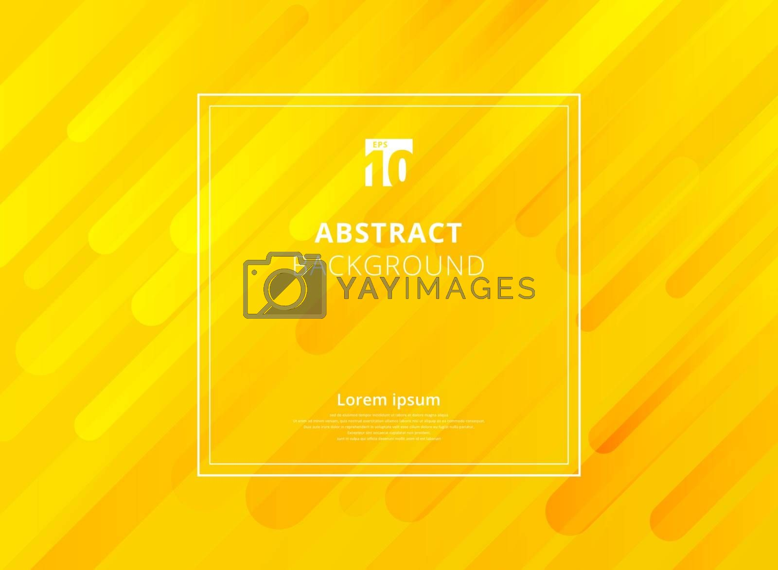 Abstract yellow mustard geometric dynamic shapes background with white frame space for text. Vector illustration