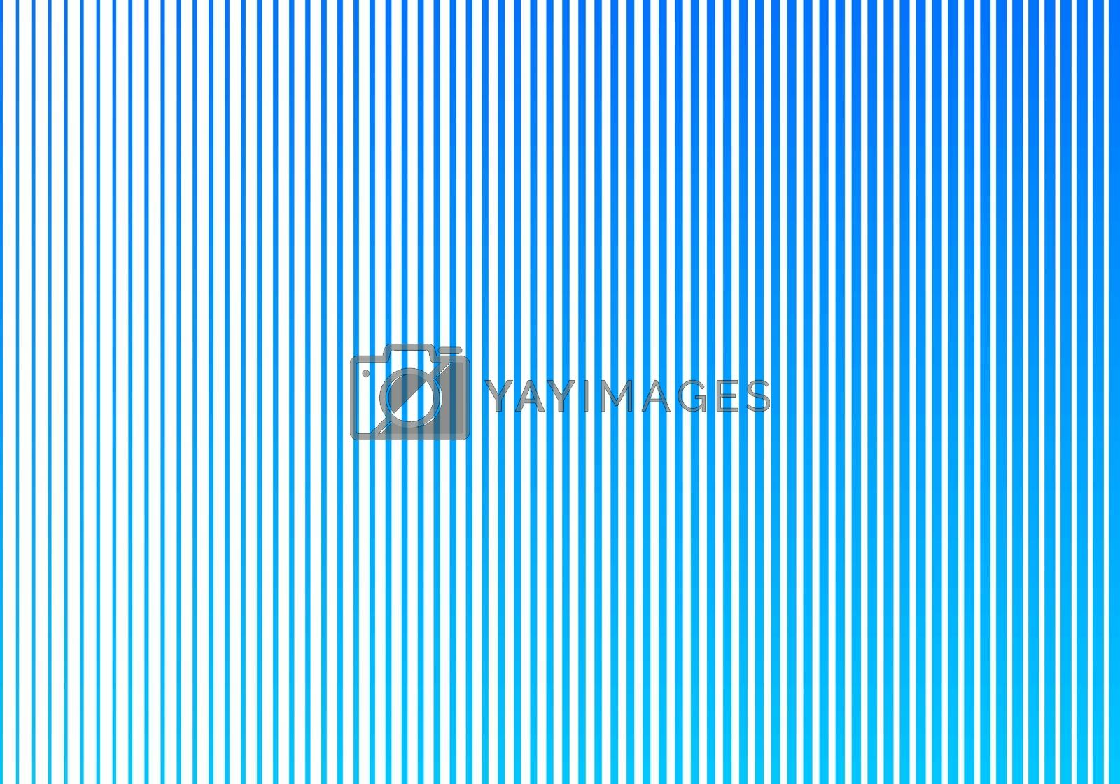 Abstract blue gradient color vertical lines pattern on white bac by phochi