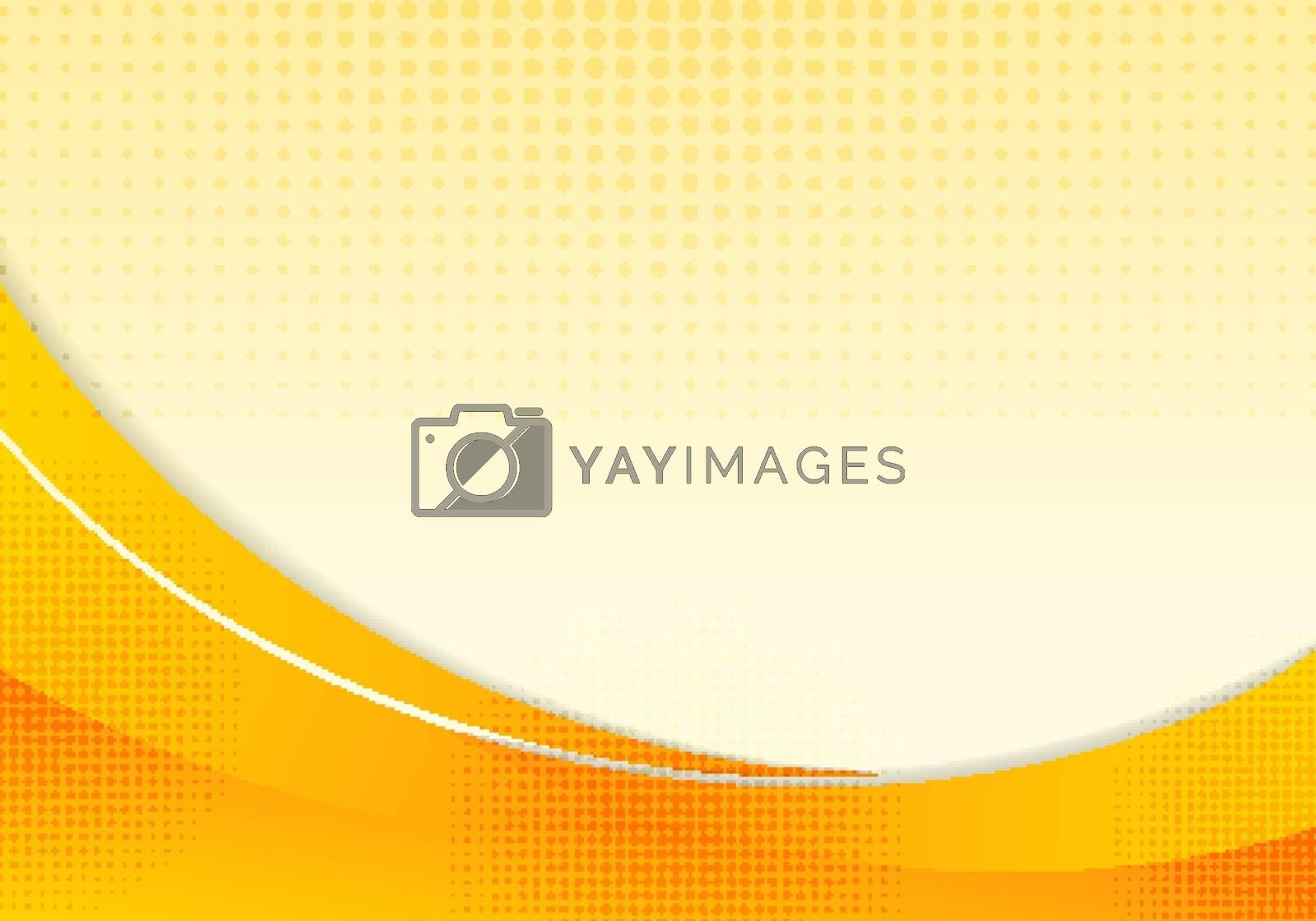 Abstract yellow waves or curved professional business design lay by phochi