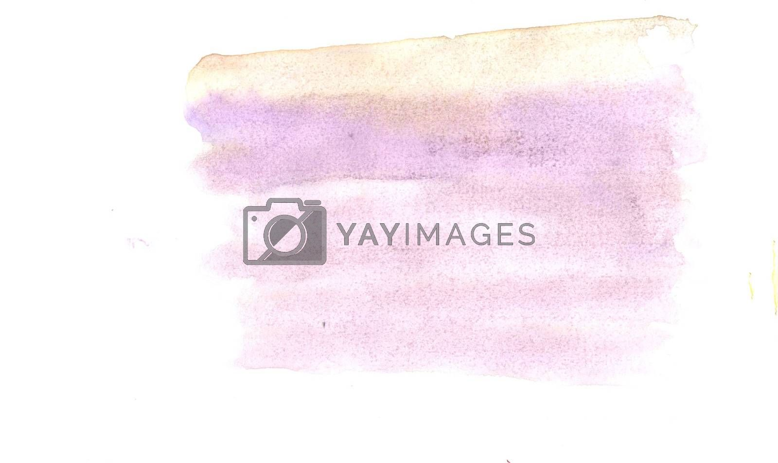 Watercolor illustrations drawn paints on white paper background by Prokopenko