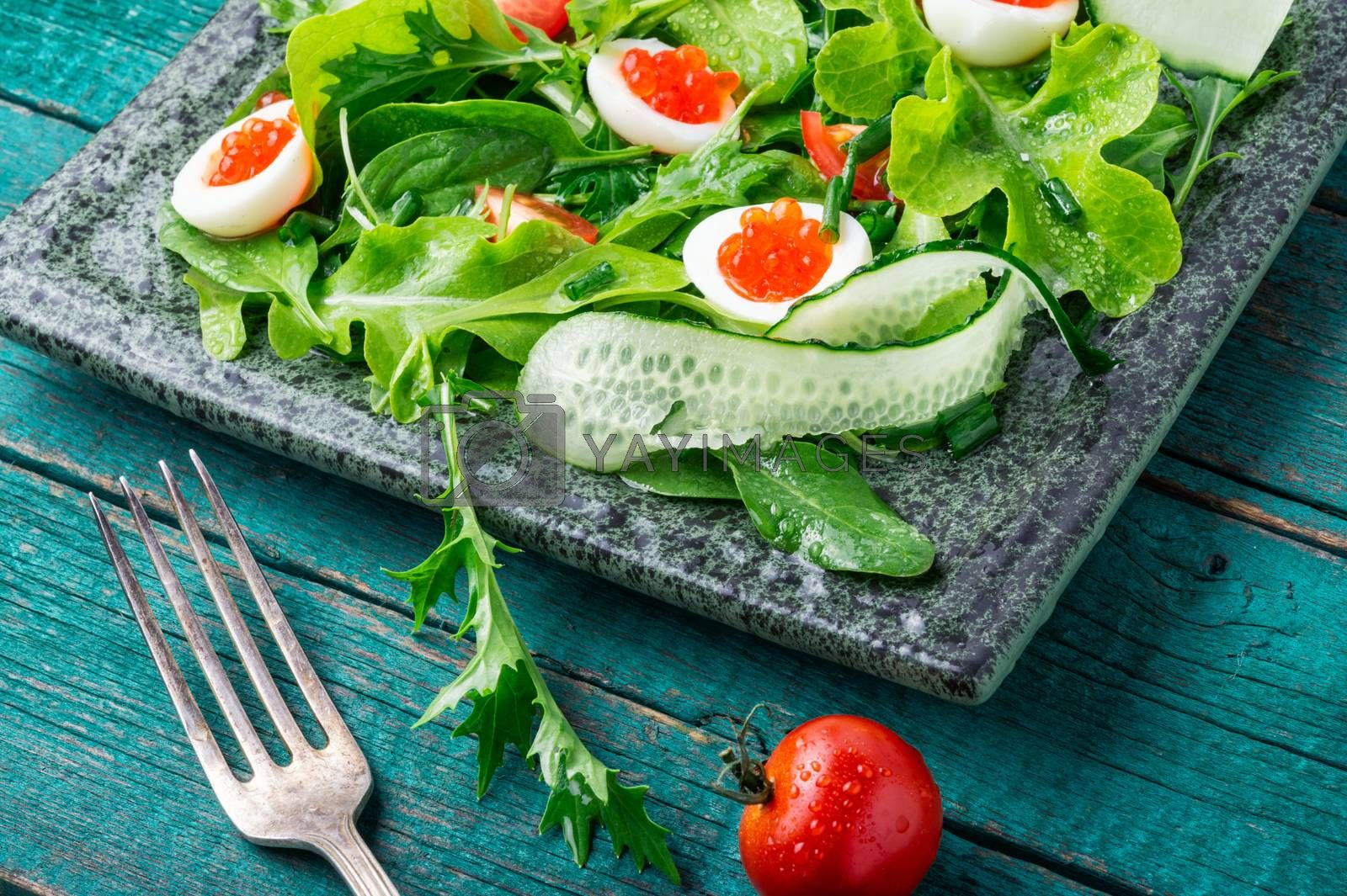 Fresh green salad.Healthy salad by LMykola