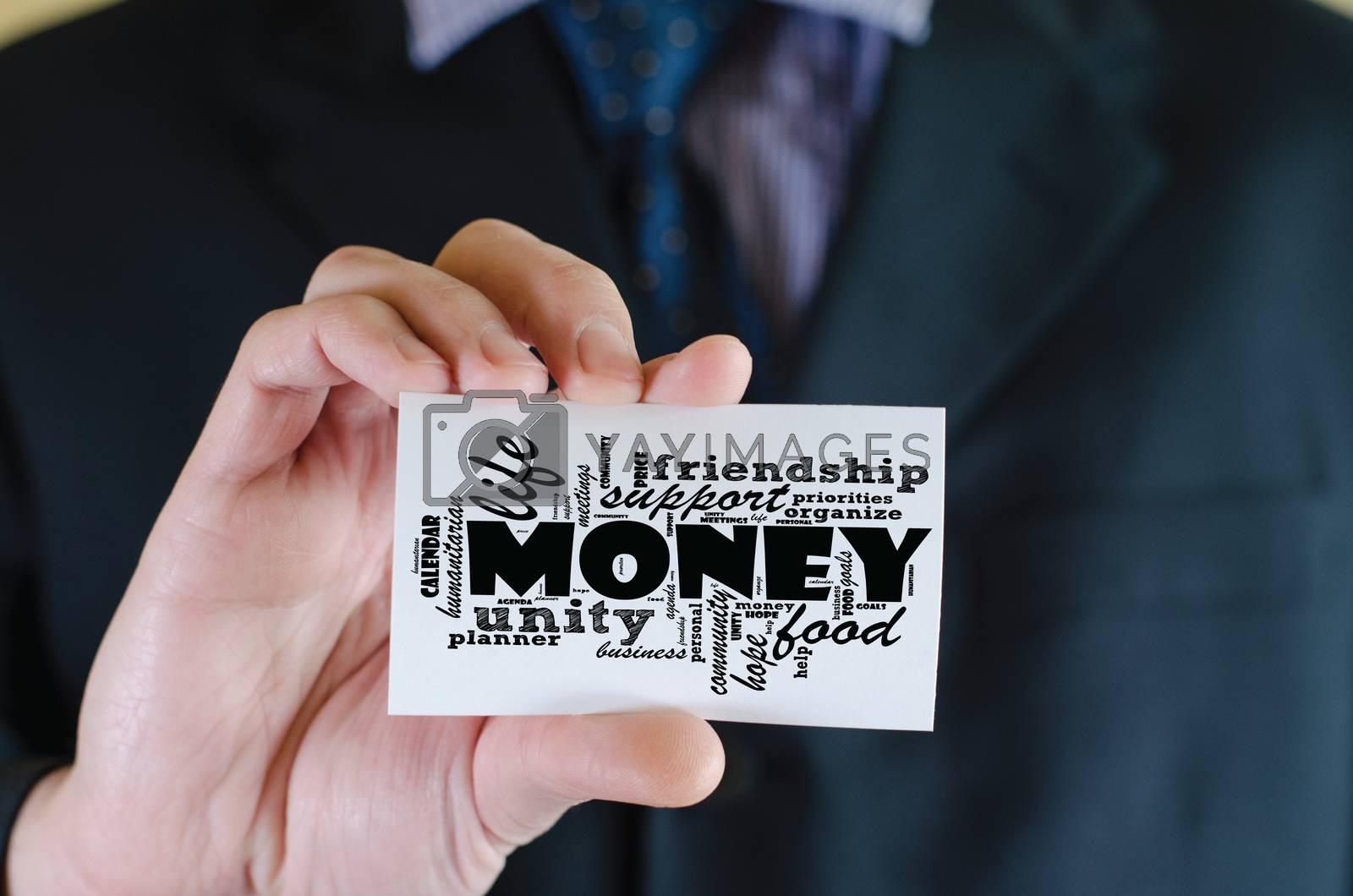 Money word cloud business concept