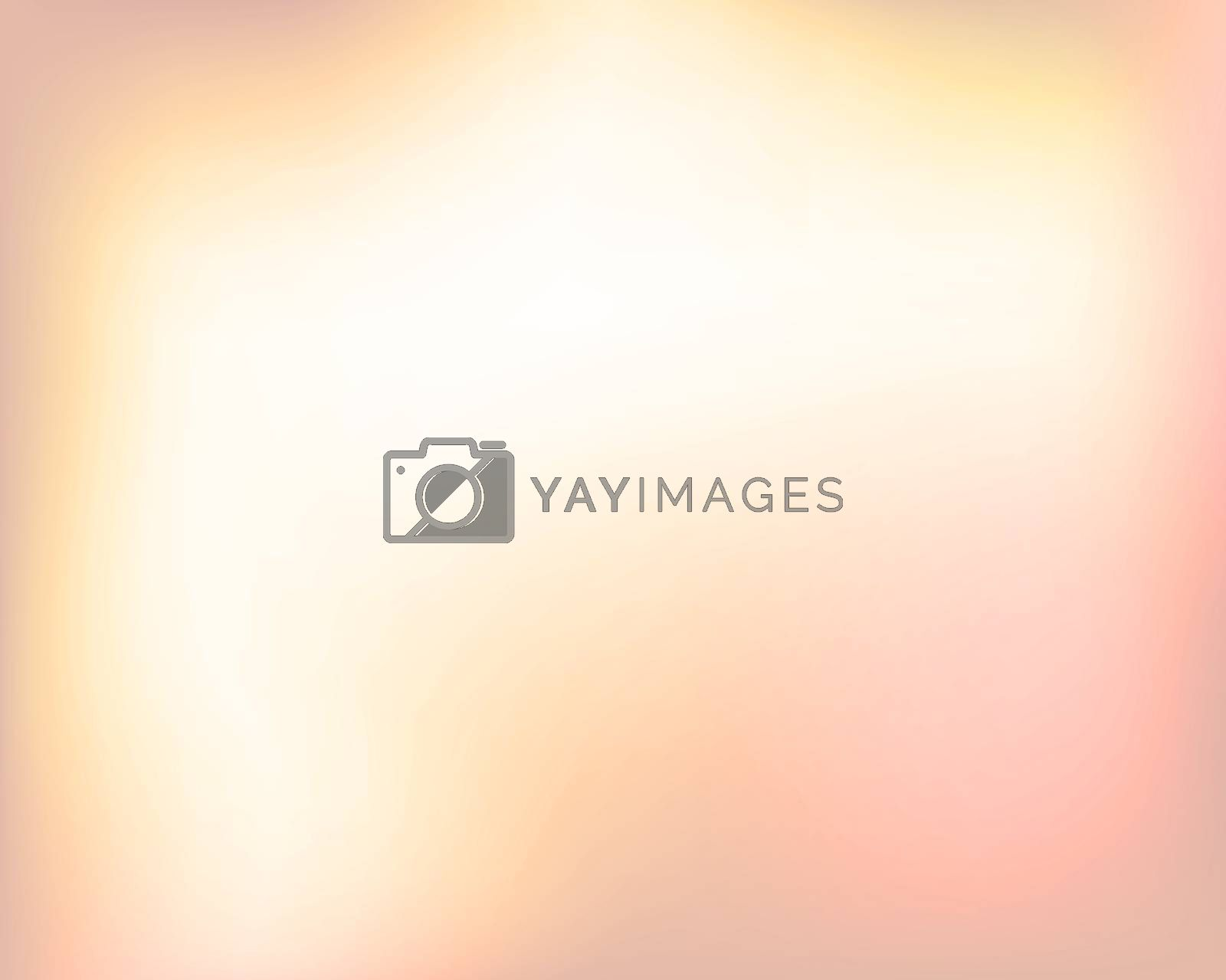 Abstract light yellow orange bright blured gradient background.