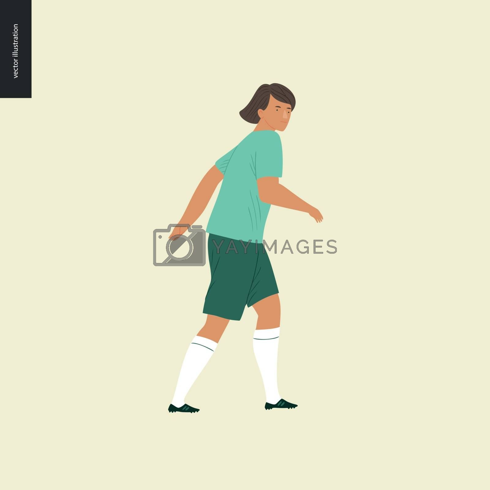 Womens European football, soccer player by grivina