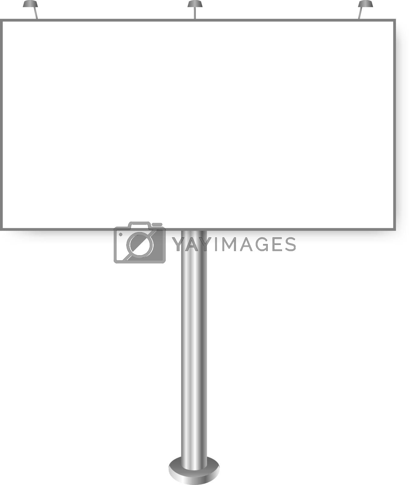 Blank Big Billboard Isolated On White Background by barbaliss