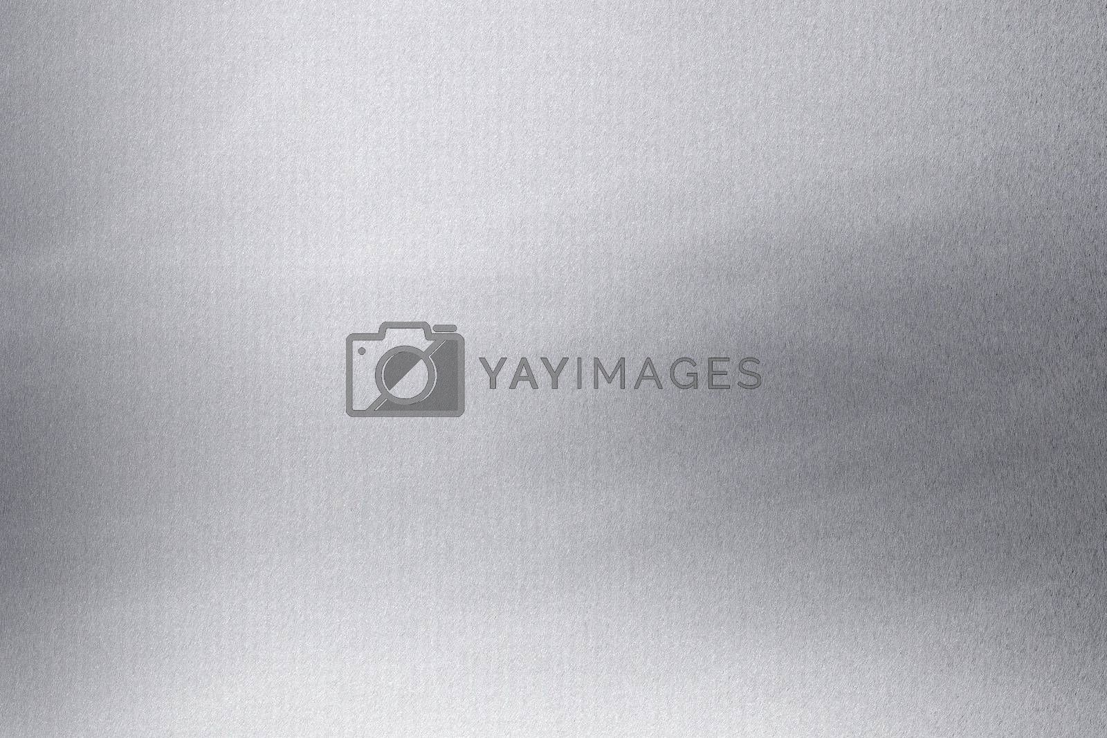Brushed silver metallic texture, abstract background by mouu007