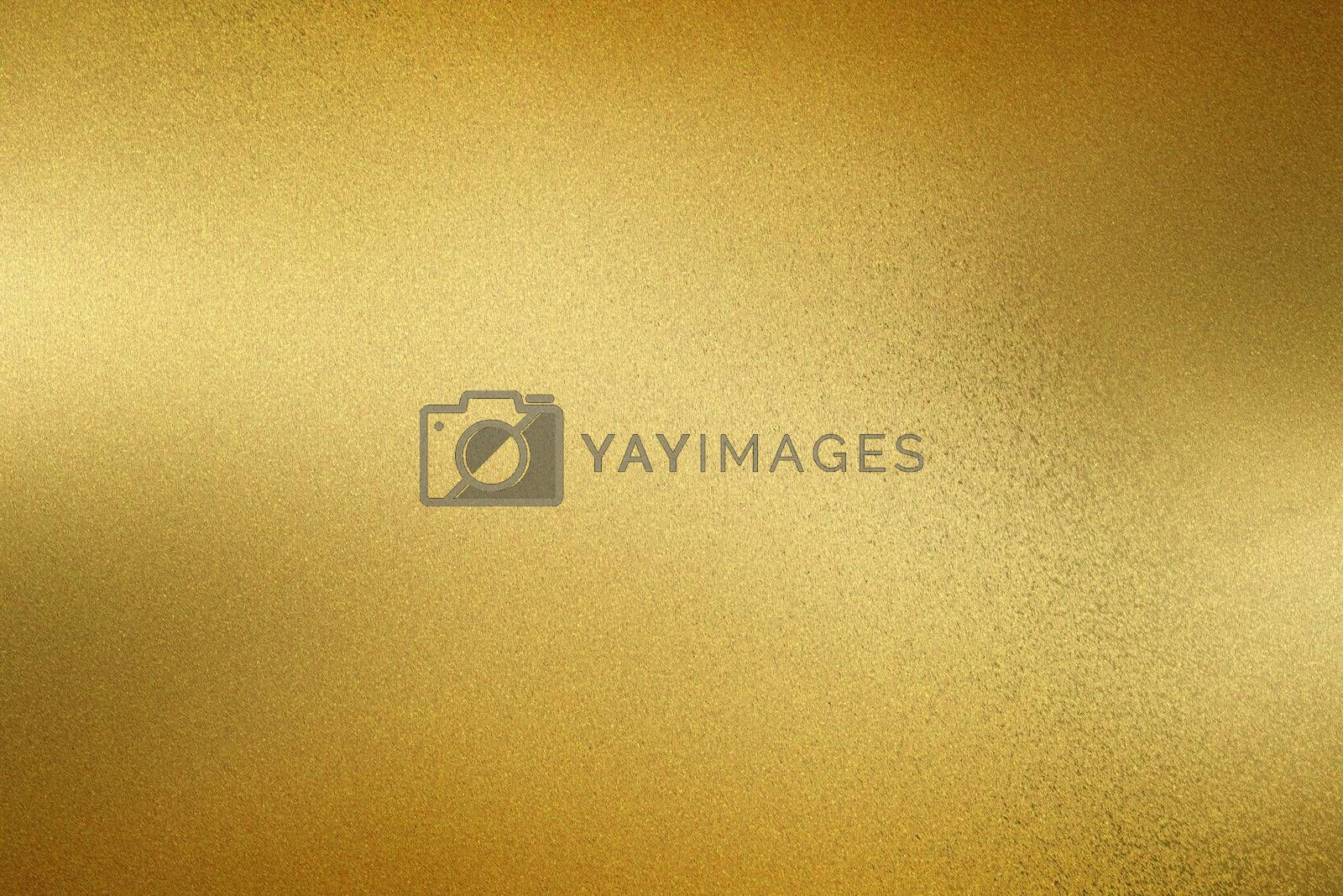 Brushed golden wave metallic wall, abstract texture background by mouu007