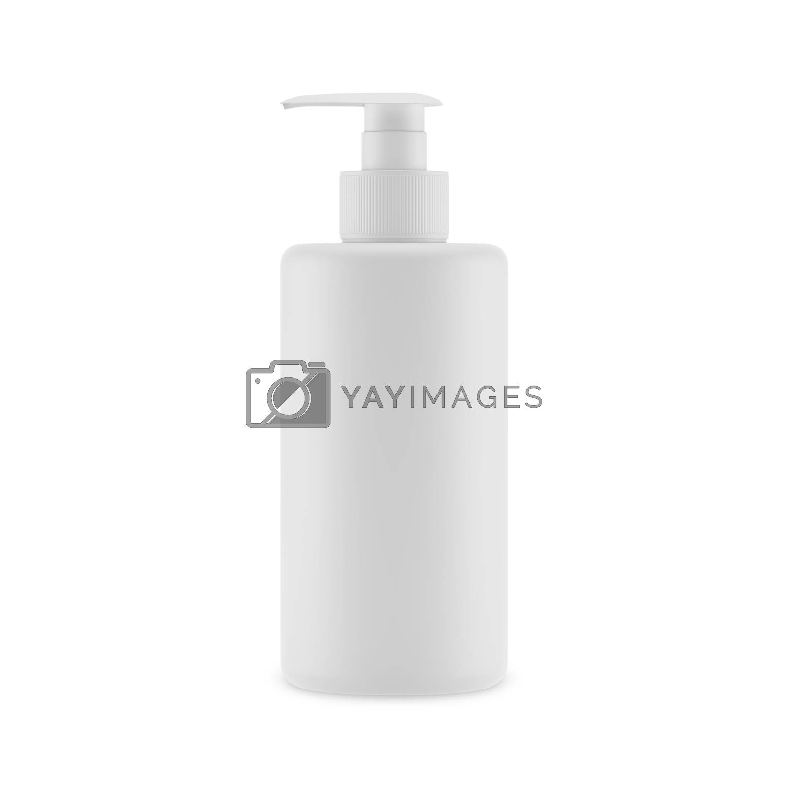 Plastic opaque cream bottle isolated on white background, 3D illustration. by kup1984