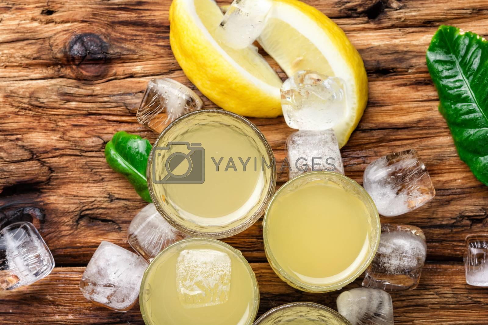 Lemoncello,Italian lemon liquor by LMykola