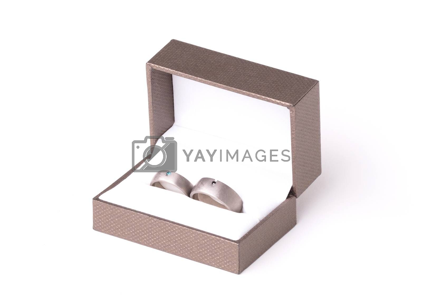 Wedding rings in box by michaklootwijk