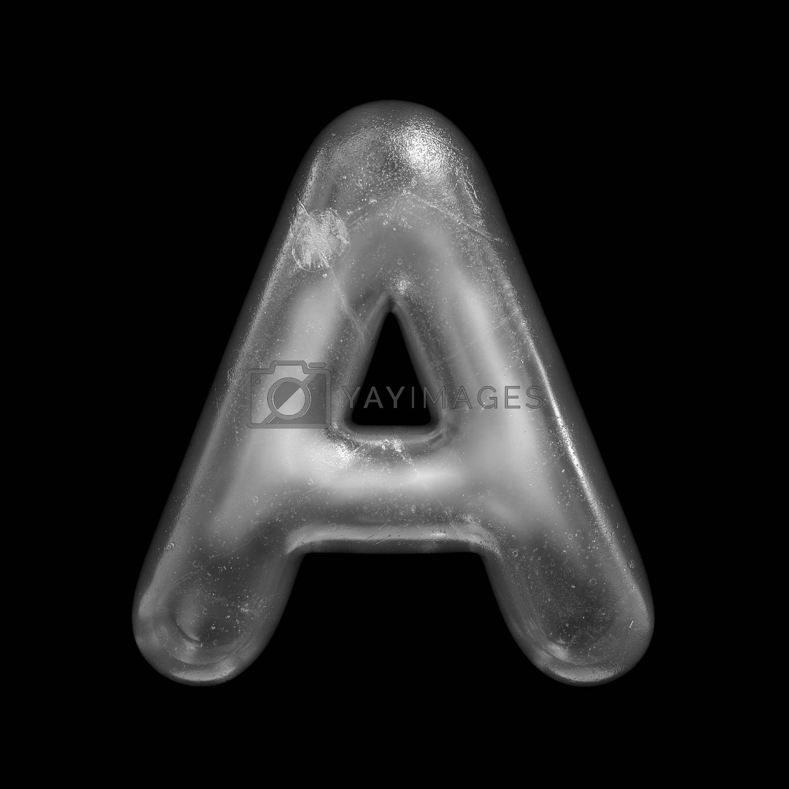 Ice letter A - Capital 3d Winter font - suitable for Nature, Winter or Christmas related subjects by chrisroll