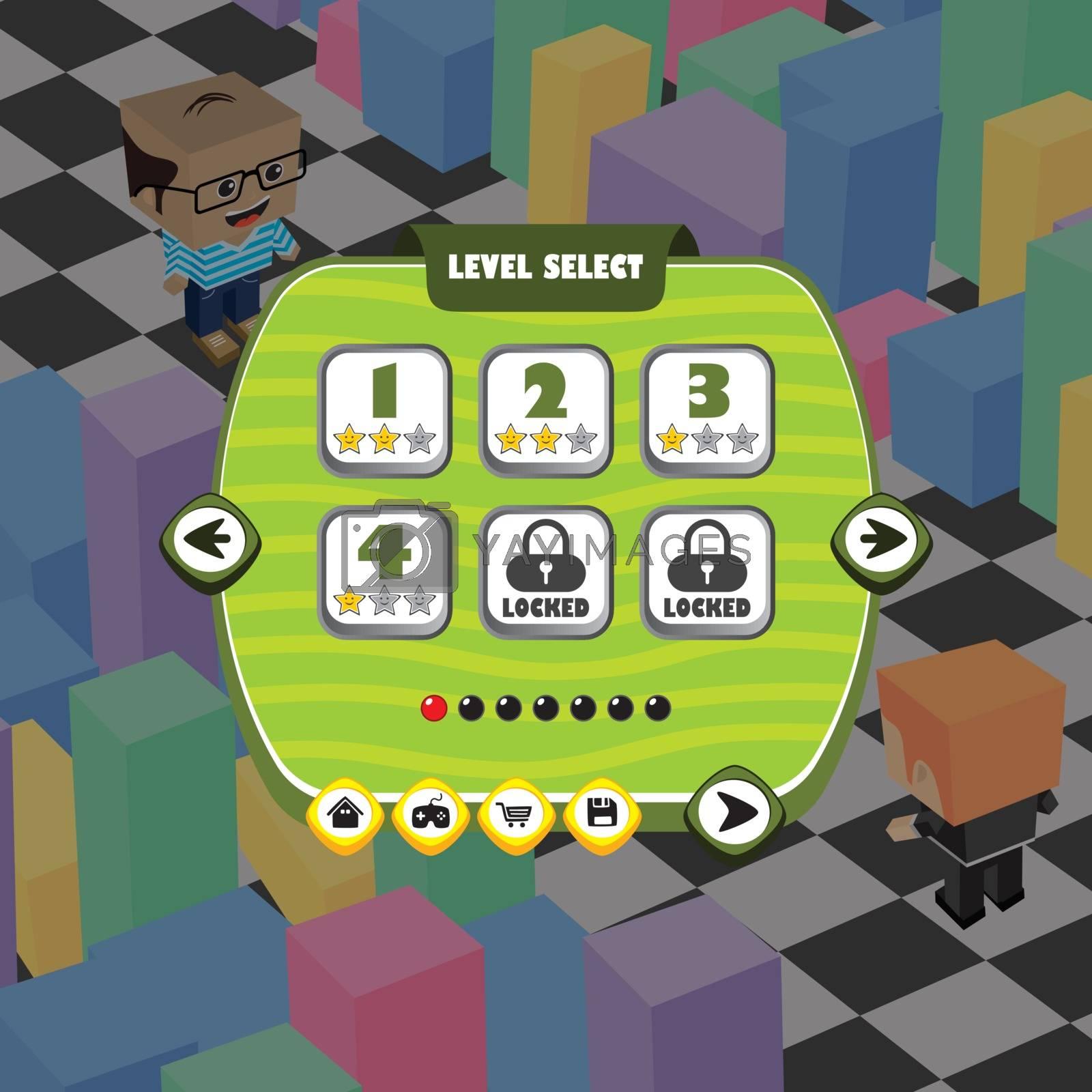 game ui menu application mobile app by vector1st