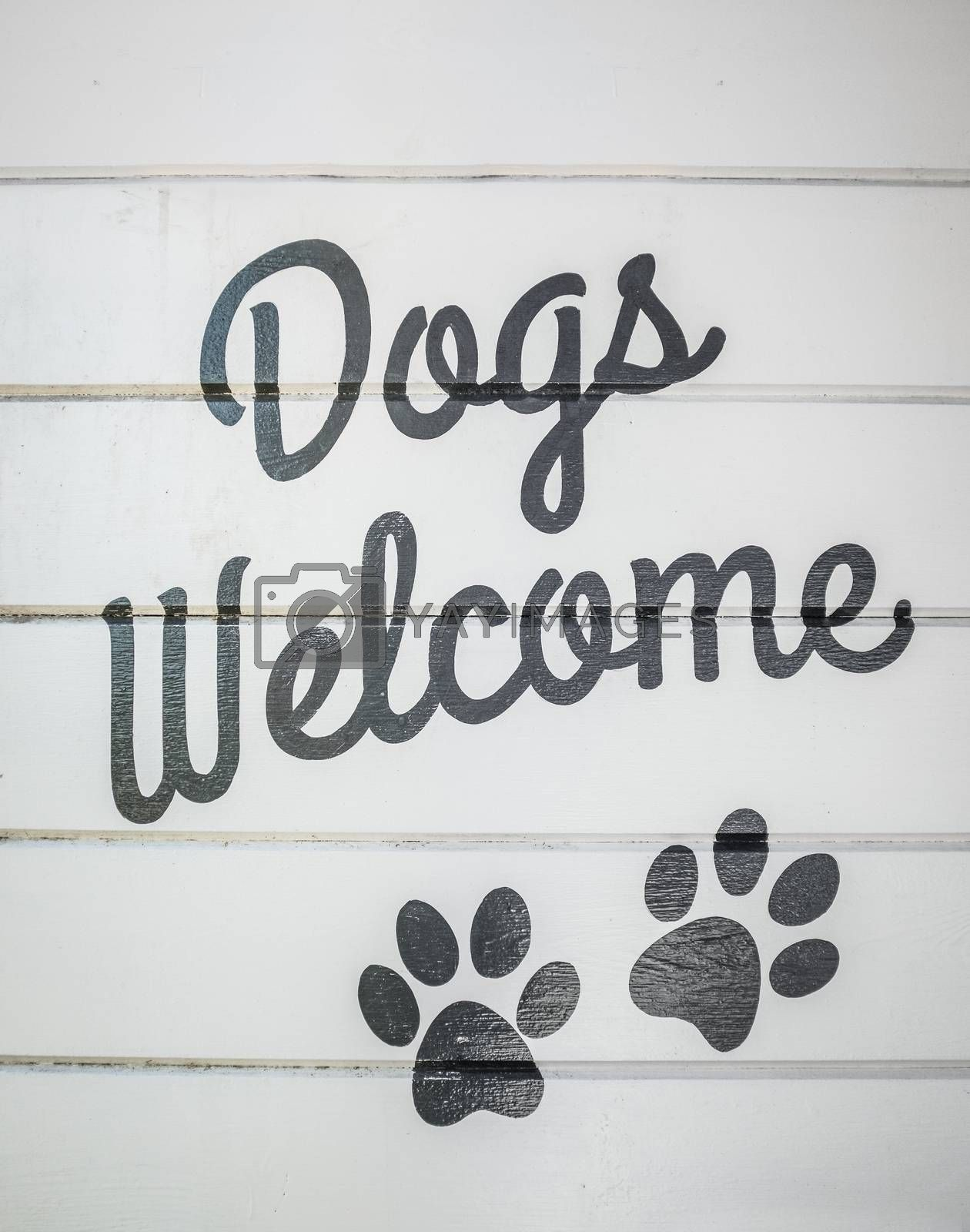 Dogs Welcome Sign by mrdoomits