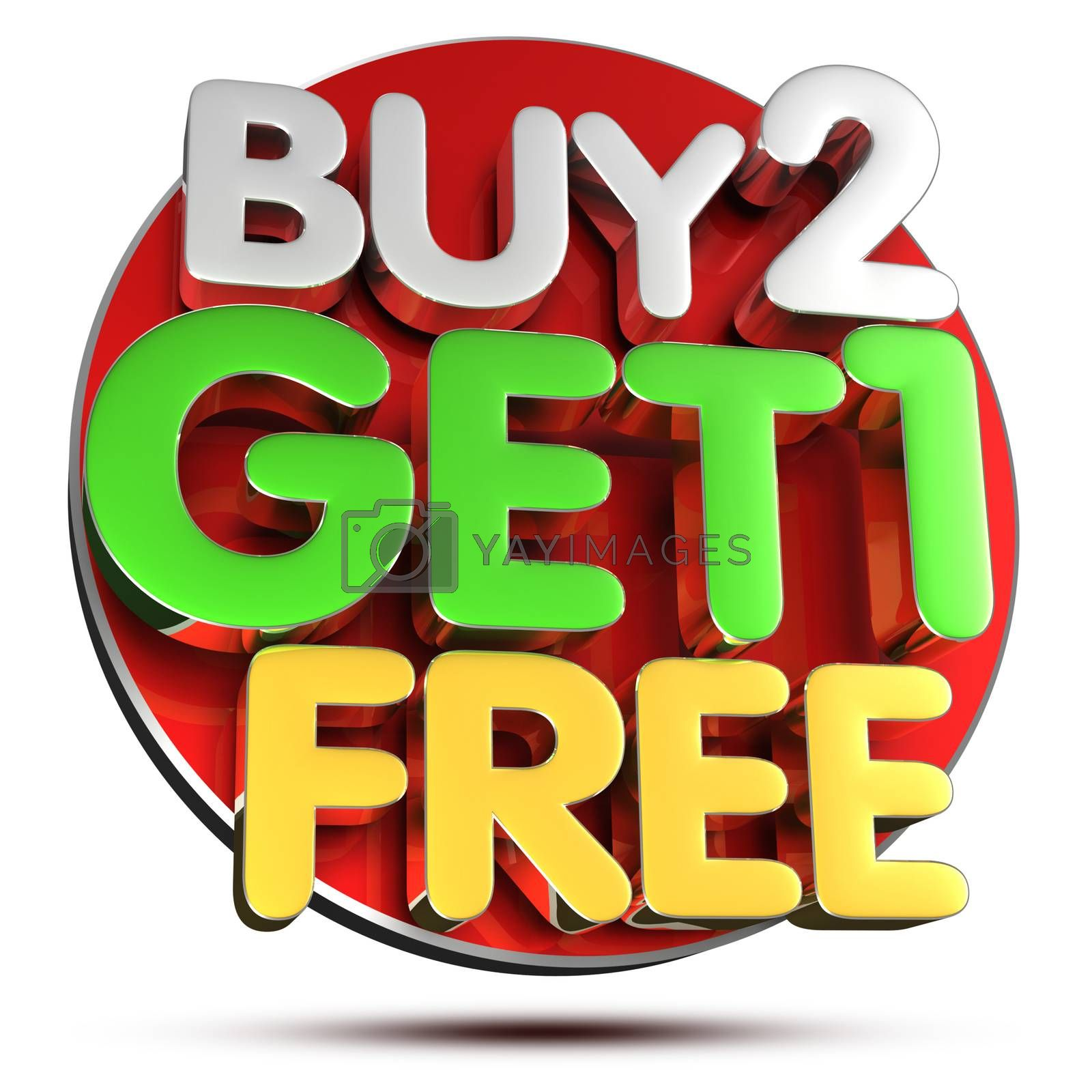 Buy 2 Get 1 Free 3D. by thitimon
