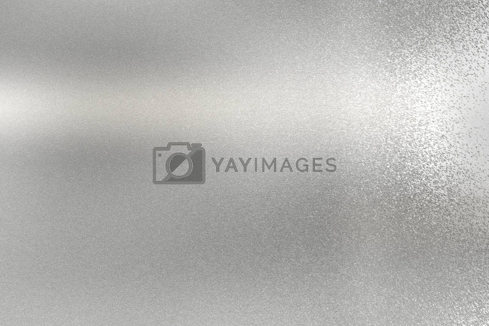 Brushed glossy silver metallic texture, abstract background by mouu007