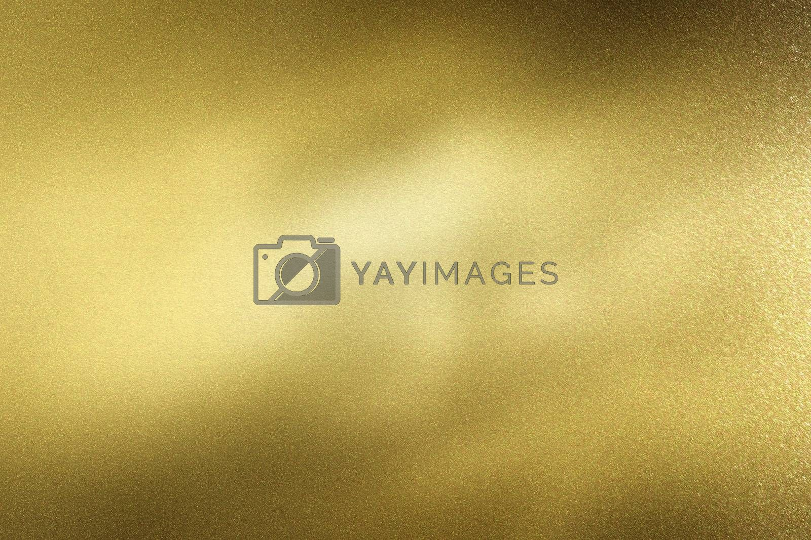 Light shining on gold metal sheet, abstract texture background by mouu007