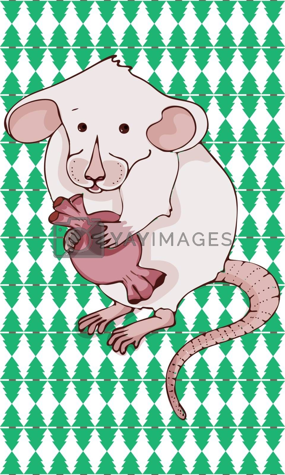 Chinese new year . Rat and mouse collection - vector silhouette by Natalia Voroshilova