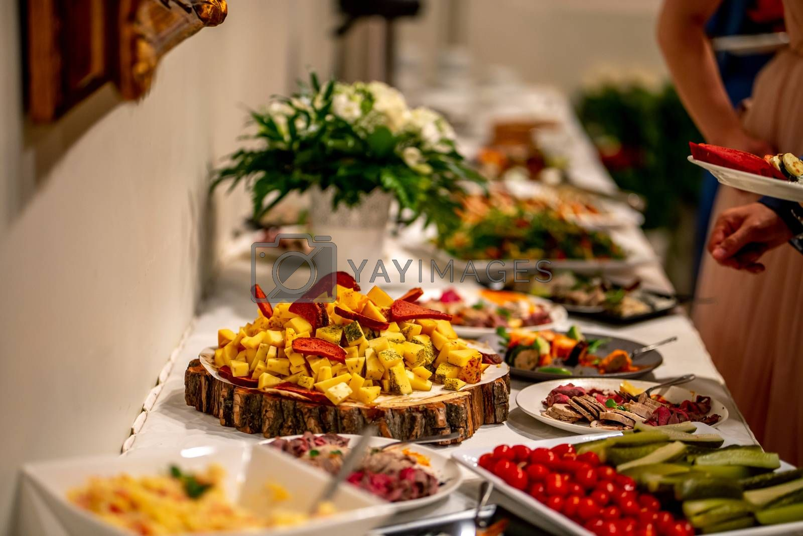 Royalty free image of Snacks on the wedding table by fotorobs
