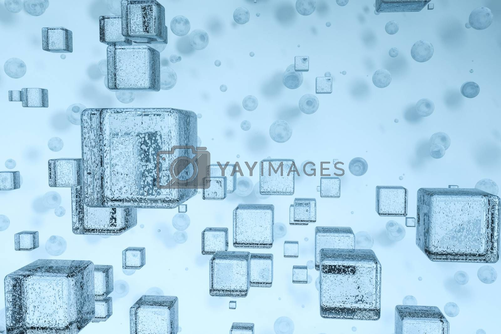 3d rendering, drop of water with light blue background by vinkfan