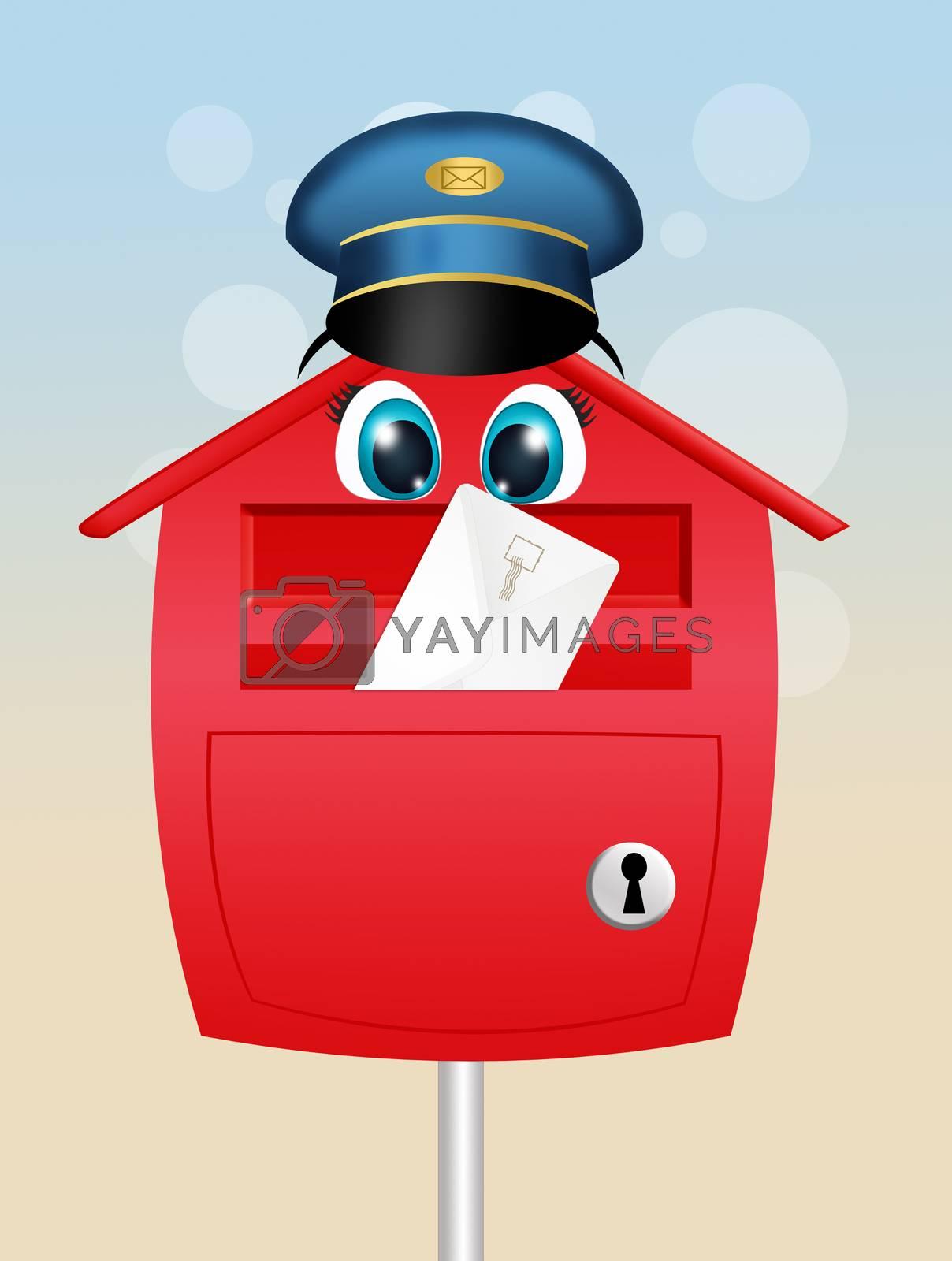 illustration of mailbox cartoon by adrenalina