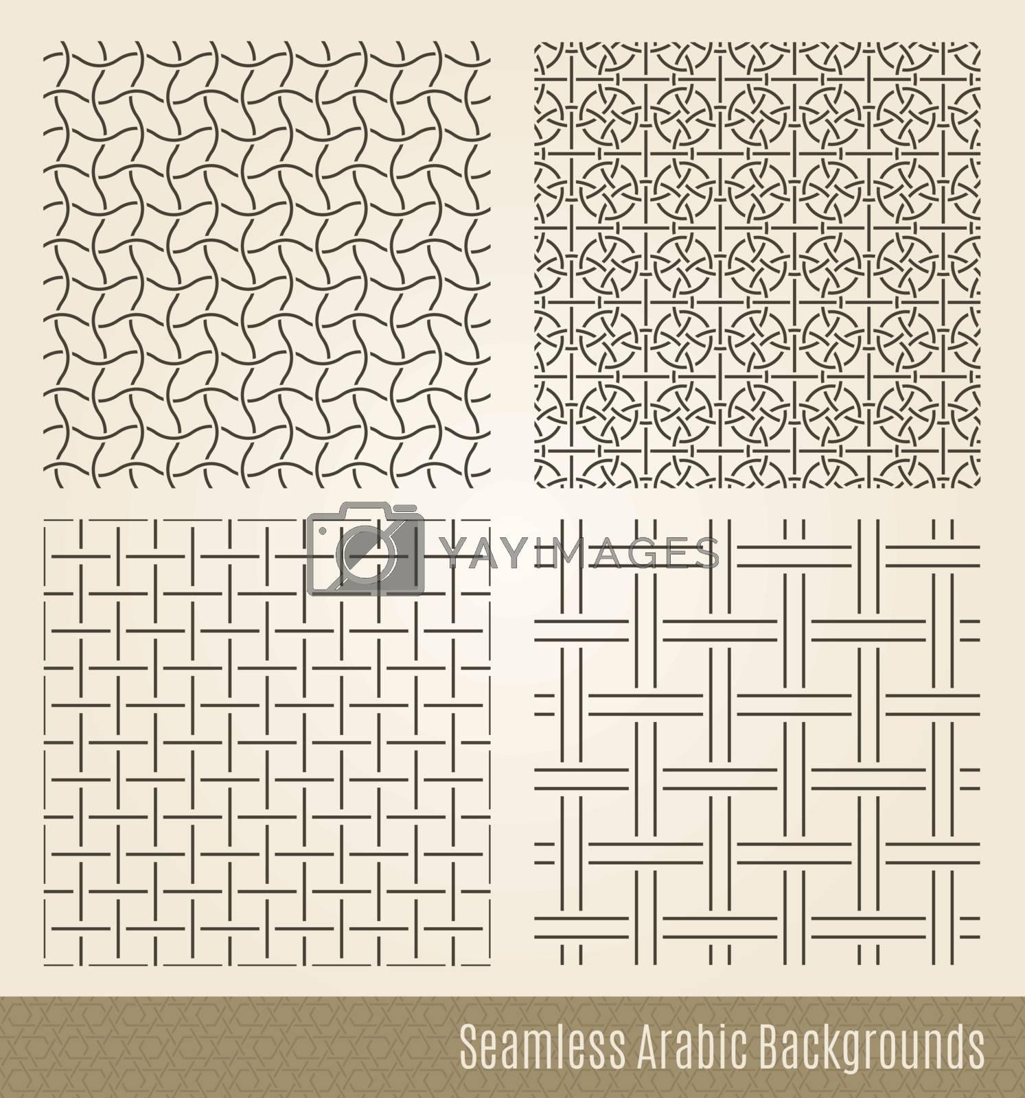 Set of Seamless Islamic backgrounds