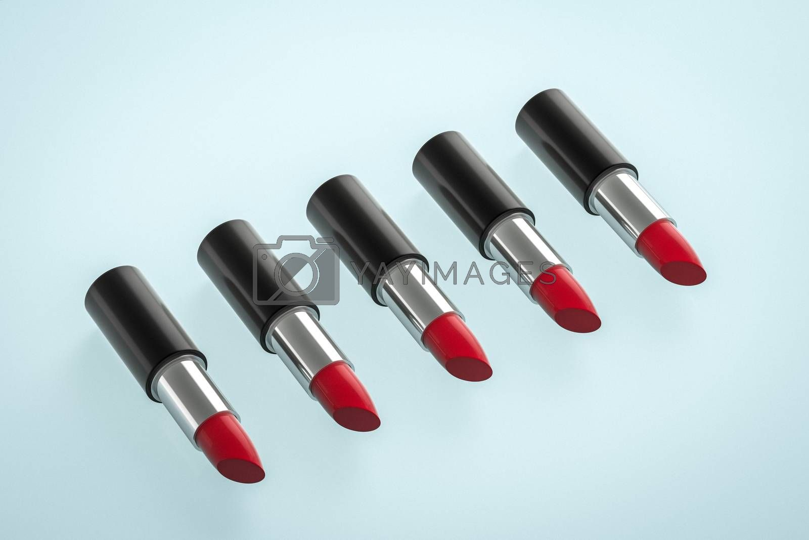 Lipstick with light color background, product photography, 3d rendering. by vinkfan