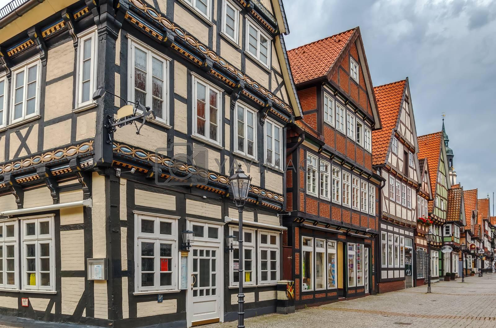 Street in Celle, Germany by borisb17