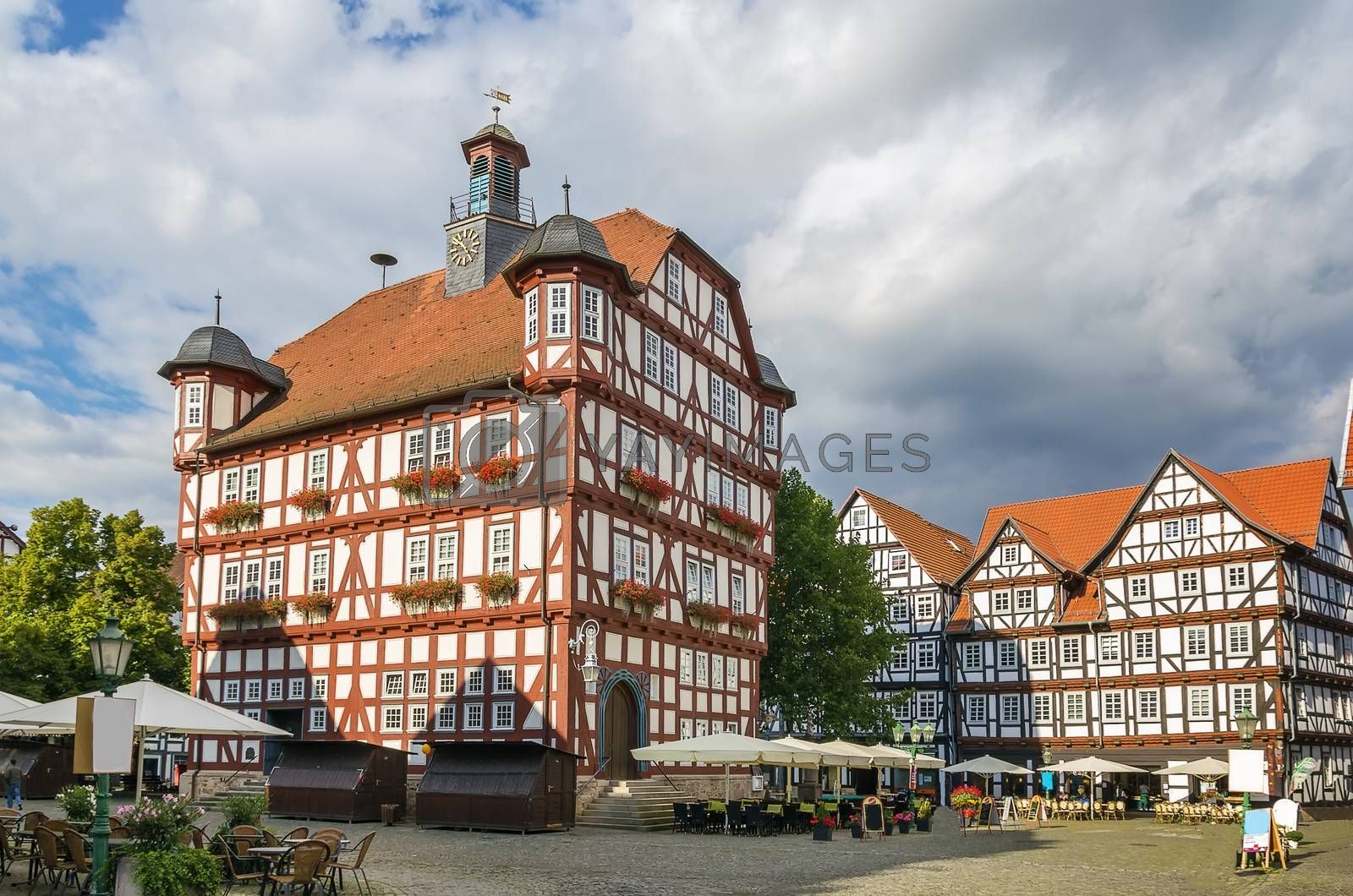 Downtown of Melsungen, Germany by borisb17