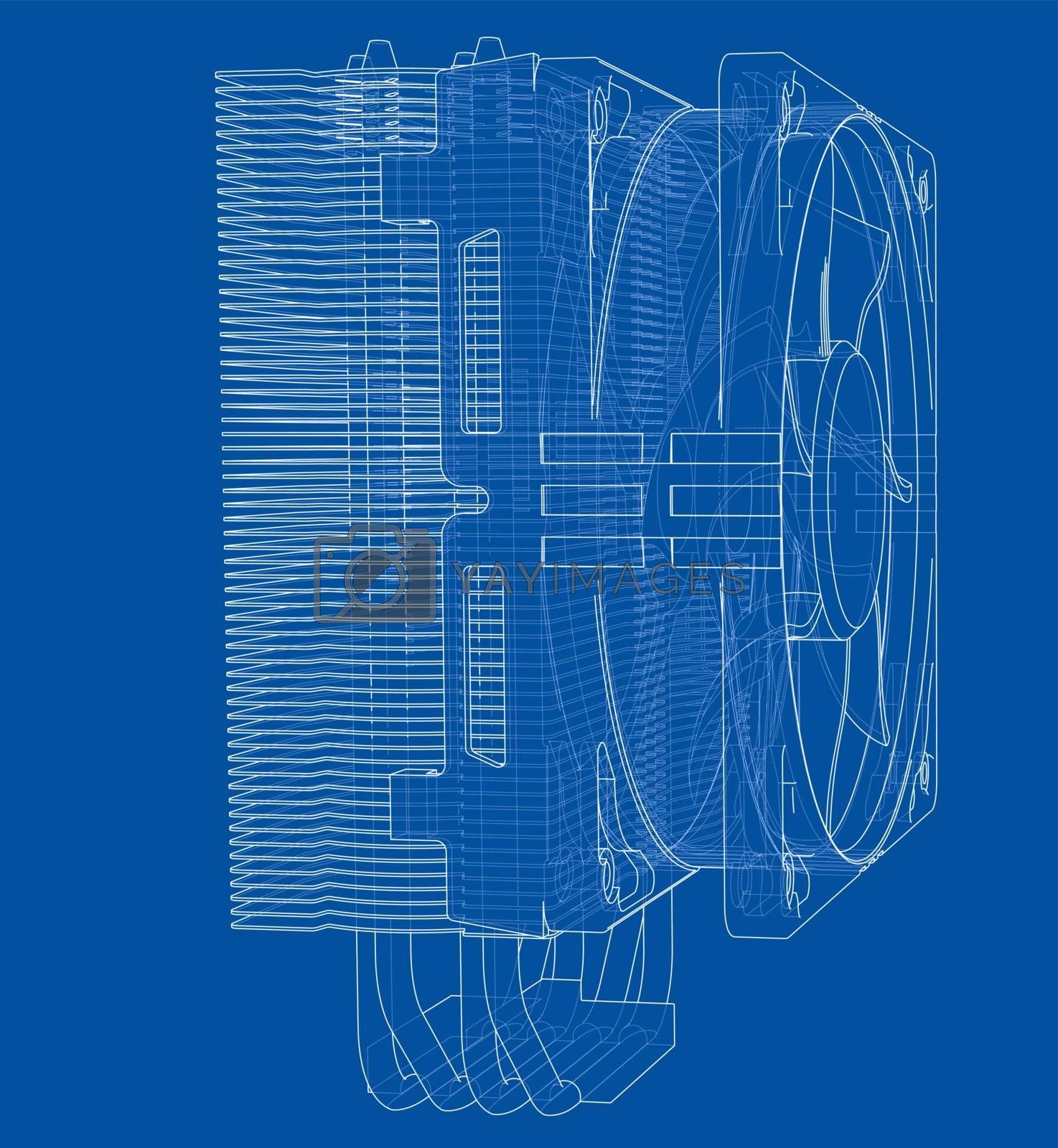 Cpu Coller Concept. Vector by cherezoff