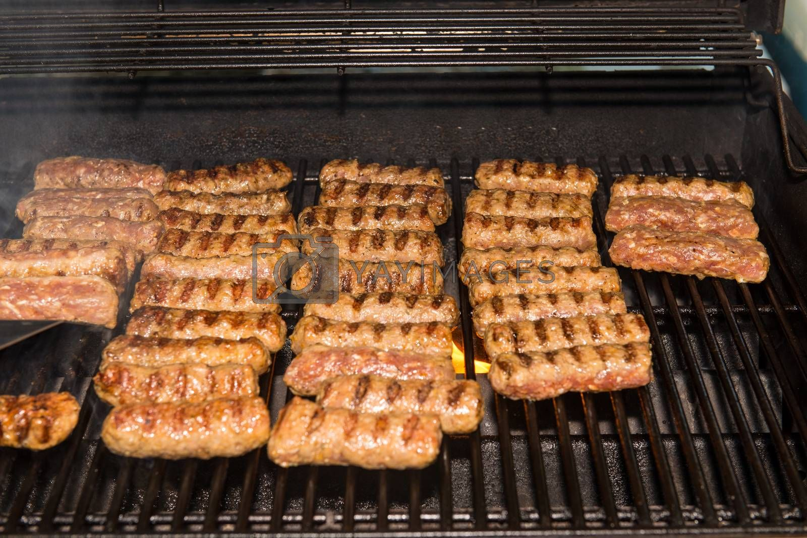 Meat rolls on the grill  by Dan Totilca