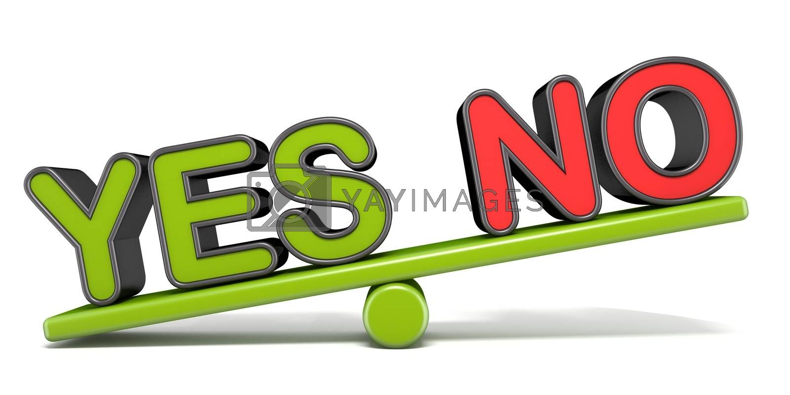 YES or NO teeter overbalance concept 3D by djmilic