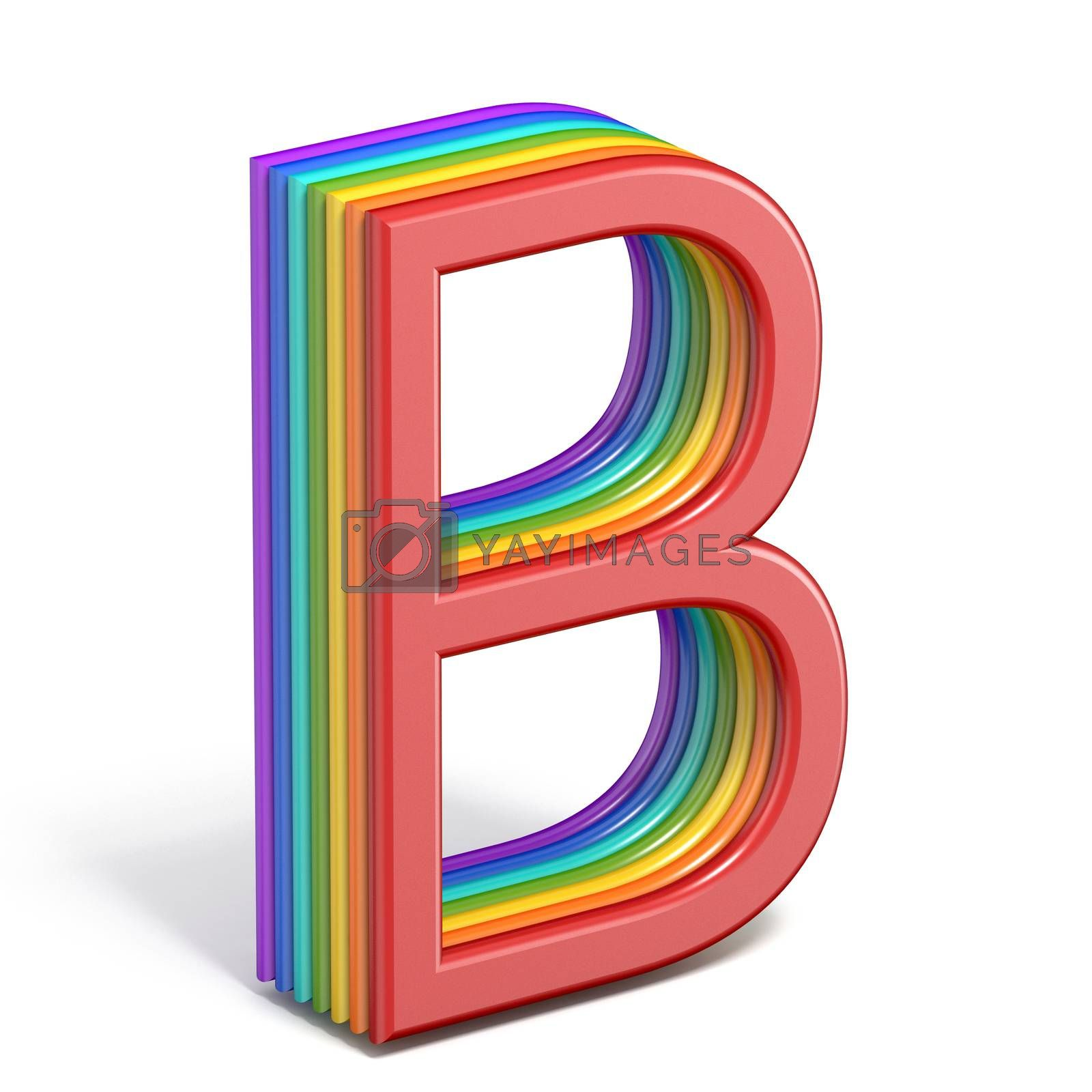 Rainbow font letter B 3D by djmilic