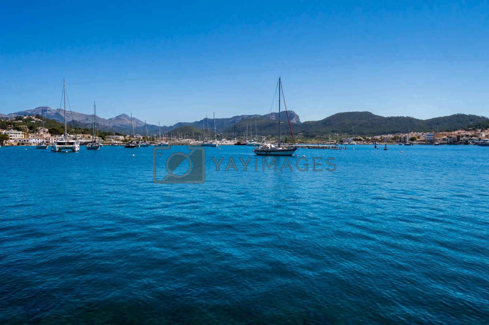 View of the marina from the port of the city of Andratx  by Philou1000